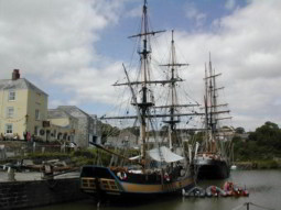 Tall ships in Charlestown